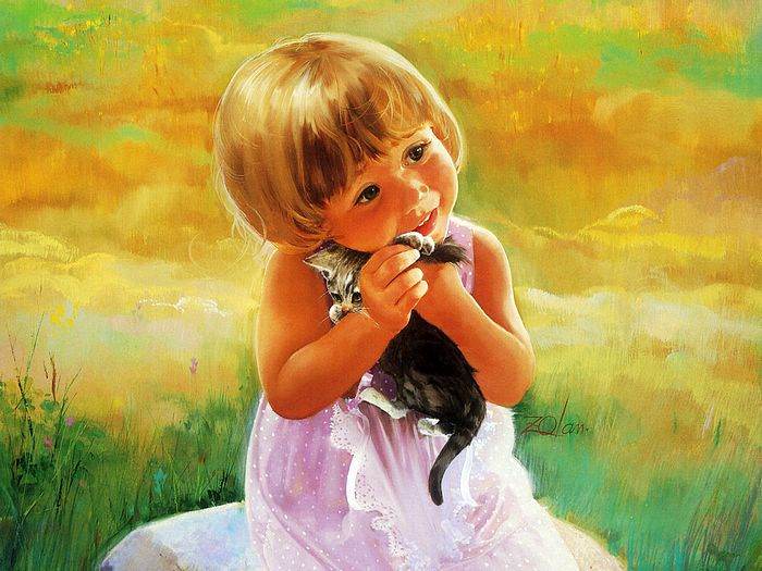 painting children kjb DonaldZolan 85MyKitty sm